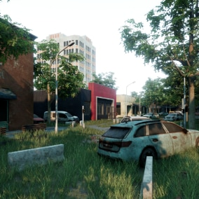 Abandoned City Environment ready for games
