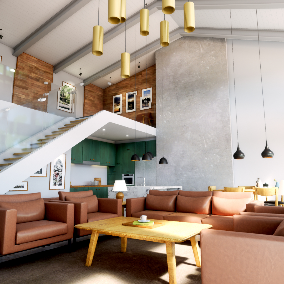 Interior house scene for Unreal Engine