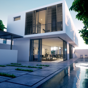 Exterior and Interior House Scene for Unreal Engine