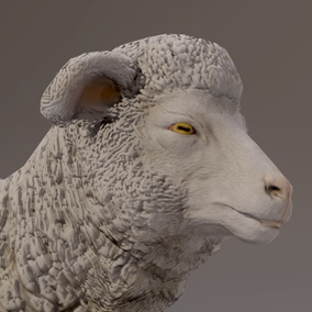***Included In Farm Animals Pack***Here is a nice little sheep ready to populate your projects with a farm or fields.