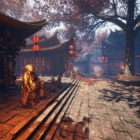 Asian Style Full Environment with optimized lighting and texturing techniques