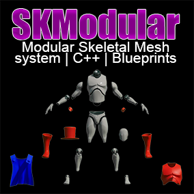 [100% Blueprint Supported] Modular Skeletal Mesh System merging and managing multiple models runtime for high performance modularity.