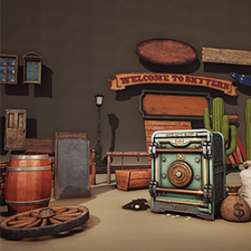 General props for Wild West setting environment; SKYTERN project
