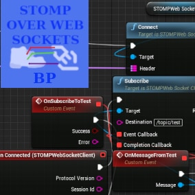 Expose UE4's STOMP over Websocket functionality to your blueprints