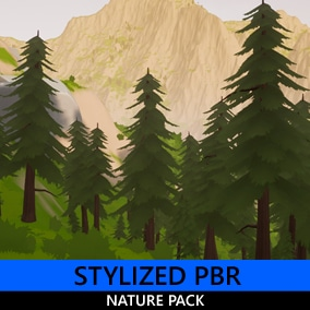 A small pack containing 35 stylized PBR nature assets - Trees, plants, and rocks. All in a consistent style.