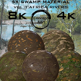 5 AAA Quality Swamp Materials for all platforms. All Textures have their own 8K,4K,2K and 1K version and ready for every kind of project.