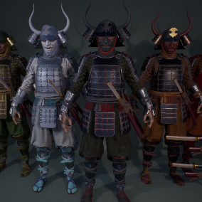 Japan smurai warriors. You can choose from 4 predefined versions or use provided parts to create your own combination.