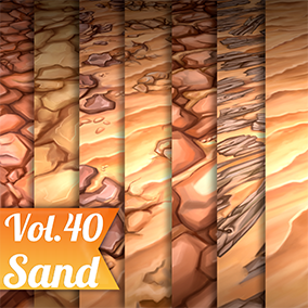 7 Hand painted tiled textures. Great for desktop or mobile games.