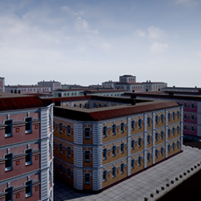 An old building based on photogrammetry and designed for modular workflow. This scene includes more than 40 modular assets, Blueprints for roads, to make them faster, different sets of materials and a dynamic color to build your unique environments