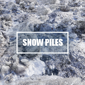5 scanned dirty snow piles