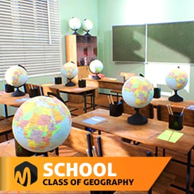 School room for your VR or other project.