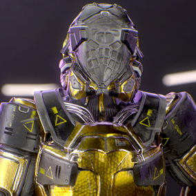 Looking for sci fi armor ?!  You can put this armor on any of your characters (helmet easily removable)