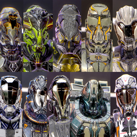 Looking for sci fi armors ?!  You can put this armors on any of your characters (helmet easily removable)