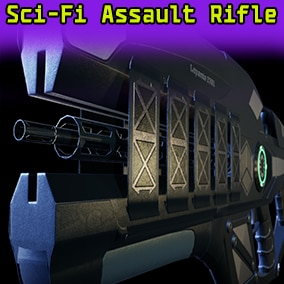 Introducing the low poly sci-fi assault rifle, separate bullet and sleeve.
