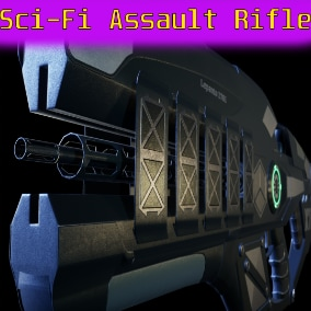 Introducing the low poly sci-fi assault rifle, separate bullet and sleeve!