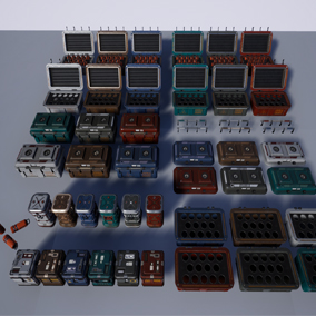 Modular SciFi Series' engineering collection part A. This product provides next gen, highly customizable assets perfect for developing environments for scifi or even semi-futuristic projects set in an engineer-esque location.