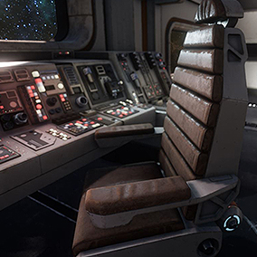 Sci Fi Chairs and props addon for the Sci Fi environment kit