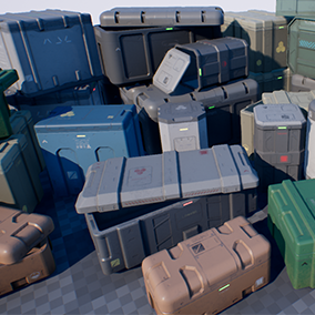 14 High-quality and completely customizable crates with PBR materials.