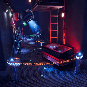 Create the perfect investigation environment with numerous sci-fi gadgets, environment pieces, decals and splines at your disposal.