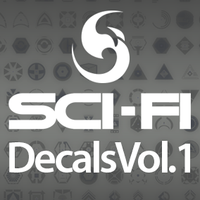 SciFi Decals Pack Vol.1 offer 450 high quality images, ideal for SciFi environments, also the pack contains flexible materials to configure the color of the decals.