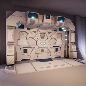 Five low-poly optimized sci-fi doors. with good design that allow to you to combine with other sci-fi props.
