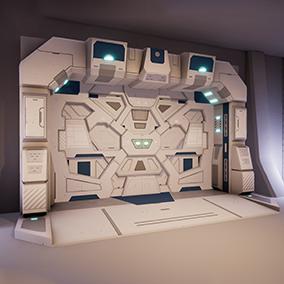 Five low-poly optimized sci-fi doors.