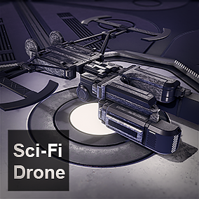 Sci-Fi Drone and 5 color variants, ready for your project