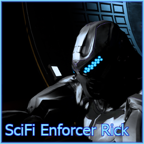SciFi Enforcer Rick is a powerful armored trooper character capable of any mission.