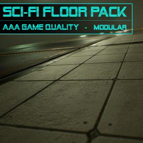 Sci-Fi Floor Pack 18 Different Modular Floor