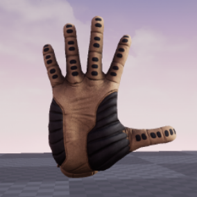 Fully animated and textured Sci-Fi style glove with 4 material variations.