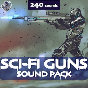 A sound library including sound effects of futuristic weapon shots.