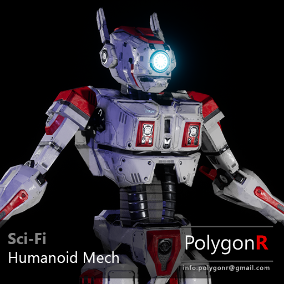 Sci fi Humanoid Mech rigged for the Epic Skeleton