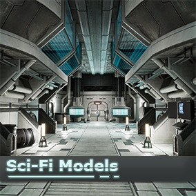 This is a futuristic prop model and material kit perfect prototyping or full fledged game production.