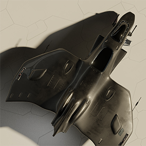Spaceship with customizable hardpoints and landing gear. Free bonus models included.