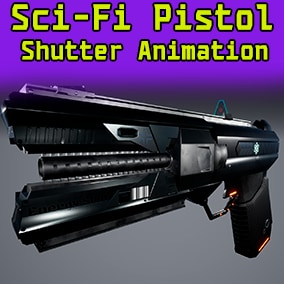 Introducing the sci-fi pistol, with bolt animation, separate bullet and sleeve!