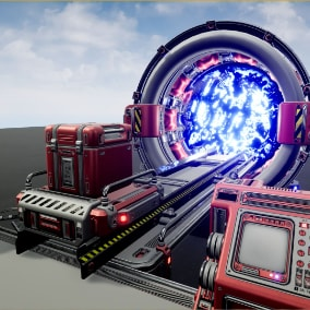 Sci Fi Portal with VFX & SFX