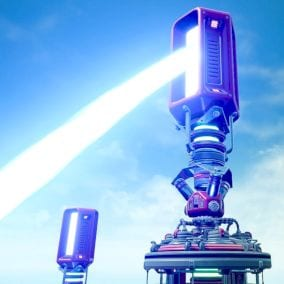Sci Fi Laser Prism Tower with VFX & SFX