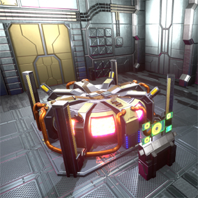 Sci-Fi Reactor Hangar for game levels and VR