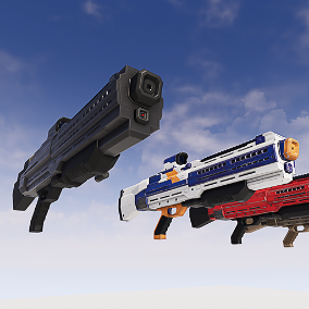 Scifi stylized Shotgun with 5 different skins.