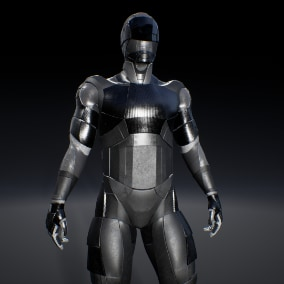 The character is designed for Sci-Fi and Cyberpunk games. The high detail of character provides the perfect look from any angle and distance.