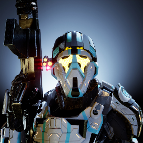 A Sci-Fi character suited for multiplayer and single-player experiences.