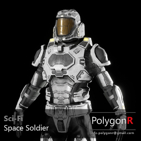 Sci Fi space soldier rigged for the Epic Skeleton