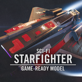 A game-ready SPACE FIGHTER asset with astonishing design and detail.