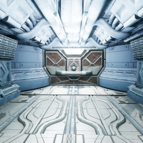 Modular Hallway to be used for your sci-fi environment projects.