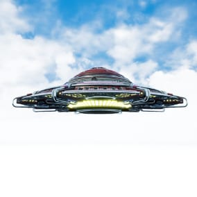 Sci Fi drivable UFO include all kinds of unique VFX, SFX, 8K Textures and Materials.