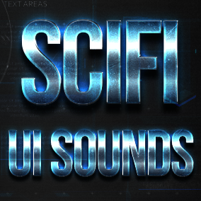 SciFi UI Sounds pack contains more than 90 SciFi styled sound effects (wav and cue files) for your game's HUD and user interactions.
