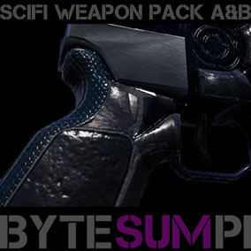 Pack A and B of Sci Fi Weapons 14 Pack