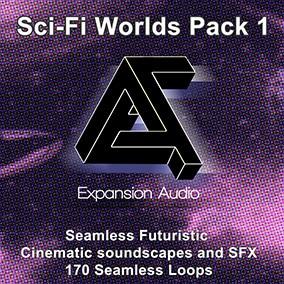 Seamless Futuristic Cinematic soundscape loops and FX