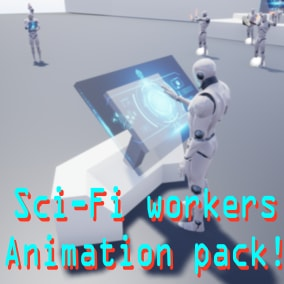 Mannequin animation for sci-fi games and sci-fi working environments.