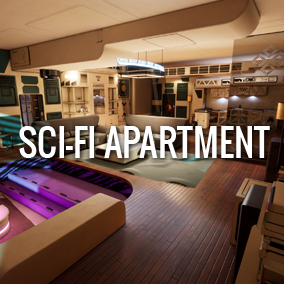 This futuristic apartment is perfect for your Sci-fi project.